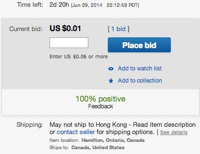 Int L Customer With Zero Feedback Bidding On Item The Ebay Canada Community