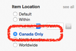 Canada Only Doesn T Work The Ebay Canada Community