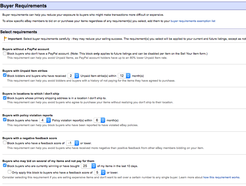 Buyer Requirements Activity Log What S It Good The Ebay Canada Community