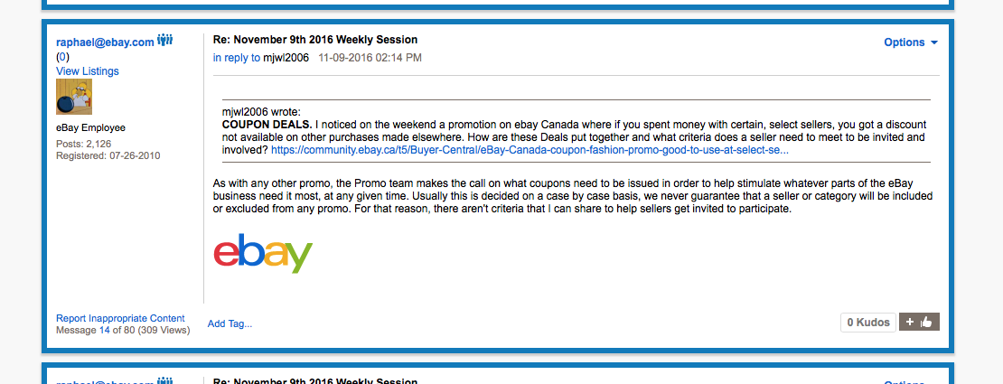 Ebay Canada Coupon Fashion Promo Good To Use At S The Ebay Canada Community