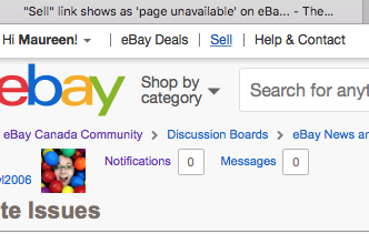 Solved Sell Link Shows As Page Unavailable On Ebay Ca The Ebay Canada Community