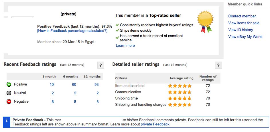 Solved E Bay Seller Ratings The Ebay Canada Community
