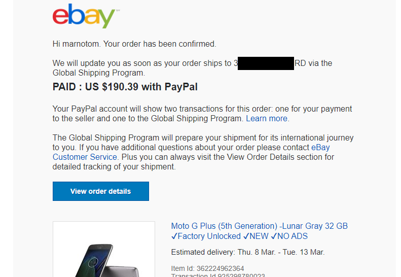 Global Shipping Scam The Ebay Canada Community