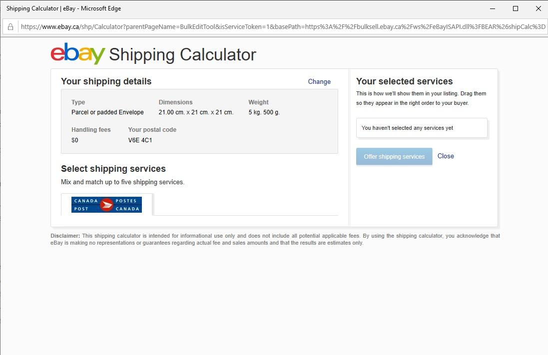Solved Shipping Cost Cannot Be Calculated Please Enter A The Ebay Canada Community