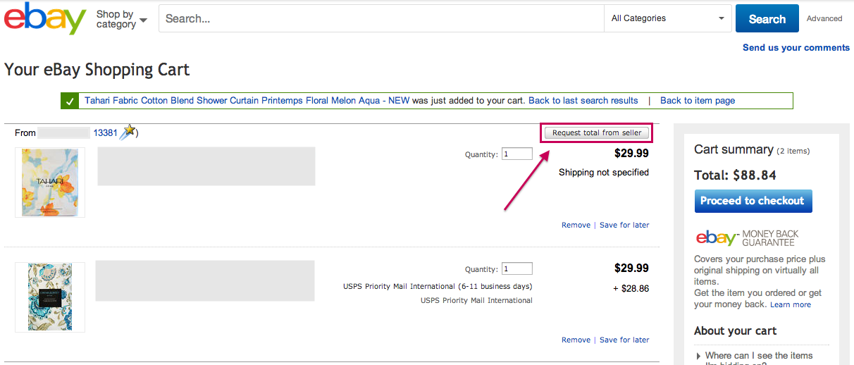 Where Is Request Invoice From Seller Option The EBay Canada Community - Invoice request