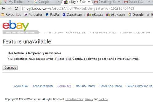 can t revise any of my listings the ebay canada community rh community ebay ca