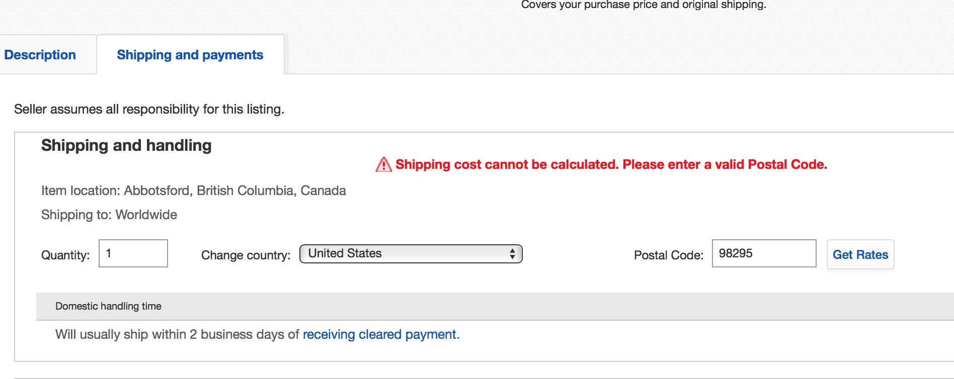 Canada Post Shipping Options on eBay ca for USA a    - The