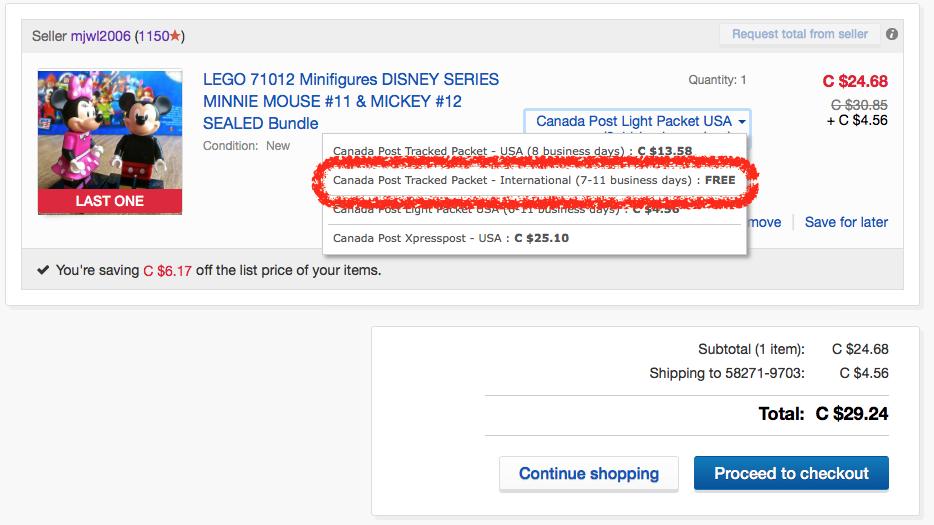 New shopping cart bug alert to sellers free shipp the ebay screen shot 2016 08 19 at 12731 pmg aloadofball Gallery