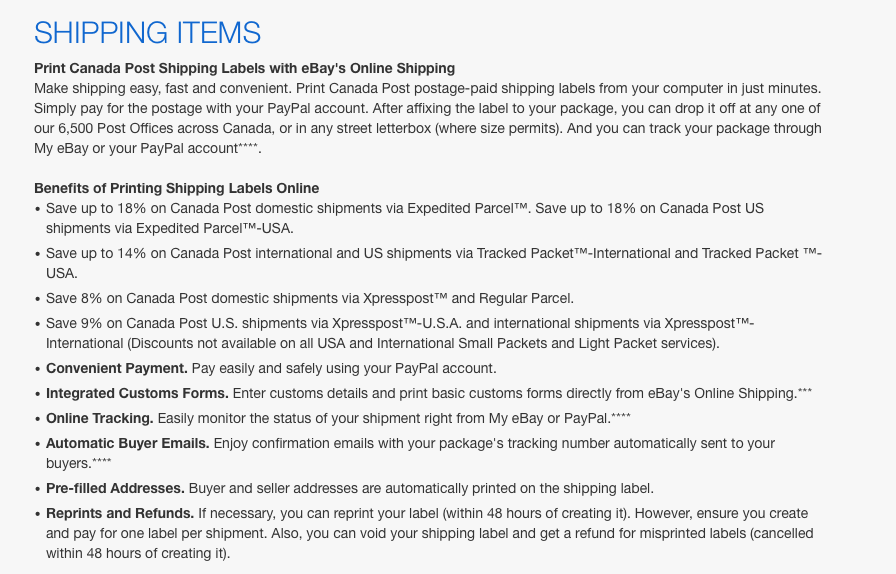 Are printing up paypal shipping labels cheaper the ebay canada screen shot 2016 10 31 at 100118 amg aloadofball Gallery