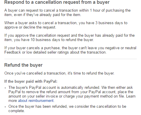 How to cancel and refund a buyer safely - The eBay Canada